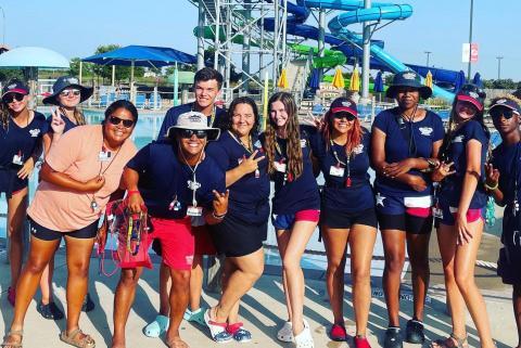 lifeguards at waterpark