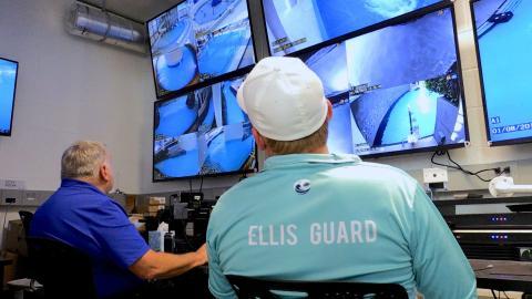 EAVS operators in control room